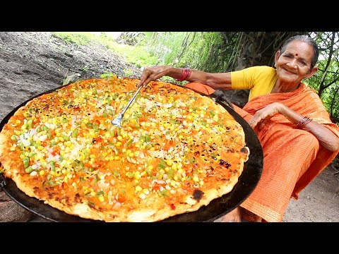 Indian Biggest Special Pizza by Grandma    Myna Street Food