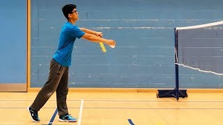 Video Perfect Badminton Low Serve Every Time - BEST METHOD MP3, 3GP, MP4, WEBM, AVI, FLV Juli 2019