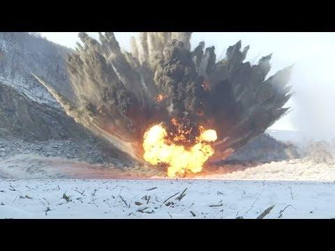 Военные взрывают ставший знаменитым затор на Бурейском водохранилище