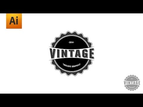 Adobe Illustrator Tutorial - Vintage Logo Graphic Design
