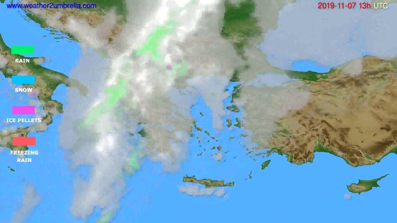 Precipitation forecast Greece // modelrun: 12h UTC 2019-11-05