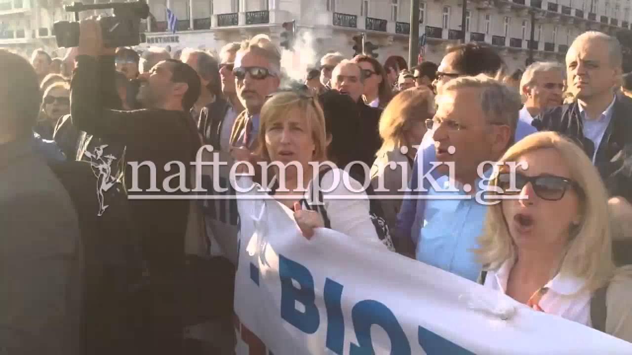 Δικηγόροι στο συλλαλητήριο ενάντια στο ασφαλιστικό – φορολογικό νομοσχέδιο