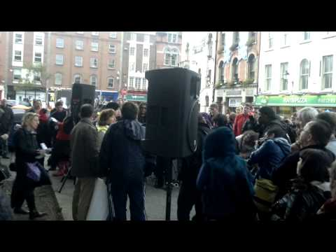 Woman speaks planily about Irish Banking at Occupy Dame Street 22 Oct 2011 .mp4
