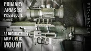 Quick look at the Primary Arms 3x Compact PRISM Scope for 7.62x39 (https://goo.gl/RPjqnf), mounted on the RS Regulate AK47/AKM Optic Mount System (https://goo.gl/pCfijf).  Being tested on the Russian FIME Molot VEPR AK-47-11 in 7.62x39.   Doing some shooting at the Firing Range and looking for any flex in the Side Rail Scope Mount System by RS Regulate. Check out Below for Helpful Links and More VEPR Videos!Overall very impressed with the performance of both the Primary Arms 7.62x39 Etched Reticle Rifle Scope and the RS Regulate AK-302M Optic Mount System.  The Sight offers a very lightweight, yet versatile optic system, which has a 3x magnification and illuminated etched reticle.  The reticle itself has markings for identifying target distance based off a man sized silhouette, and various reticle's for specific calibers are available.The RS Regulate AK Mount is very lightweight, has a low bore access, a modern tactical design, and a quick release lever available in the generation 2 model.  Paired with the Primary Arms PRISM Scope, you can see in the video there is little to no flex in the mount or optic when shooting.  The RS Products Mount is available in numerous configurations based on the users need, but we are using the AK-302M model.  Another popular model for this application is the AK-303M.  The system held zero very well, and the optic gave us a 1 inch grouping at 50 yards with ease using cheap Golden Tiger ammunition.  For the price, it's a very rugged optic and mount system which will serve the user for any purpose, be it hunting, target practice, competition, or battle.HELPFUL LINKS:**Primary Arms 3x Compact PRISM Scope 7.62x39:  https://goo.gl/RPjqnf **RS Regulate AK47/AKM Optic Mount System:  https://goo.gl/pCfijf --PLAYLIST on all VEPR Videos (7.62x39 & 7.62x54r):  https://goo.gl/1p7bZ8 Thanks for Watching, and don't forget to Like, Share, and Subscribe!MOST POPULAR Videos:  https://goo.gl/UqPGF3ALL PLAYLISTS:  https://goo.gl/jYIdR0FIND IntoWeapons H