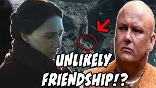 "A new clip has been leaked of what appears to be Mel approached from behind by Varys!! Also several new images have been released of episodes 1-3 from Season 7 Game Of Thrones LETS DISCUSS!SOURCEhttp://bit.ly/2tcnB8gJon Snow a ""FIRE WIGHT""https://youtu.be/XTZCsilgWT4Dark Sister TEASED?!https://youtu.be/TmYx4BxhNbMMAJOR Spoilers REVEALED!!https://youtu.be/8TR6NFyBkRM10k SUBS GIVE-A-WAY!! SUBSCRIBE!!!http://bit.ly/1Wo7tb0Patreon SupportPatreon.com/serhuntsreviewsWinter Is Coming Article LINKhttp://bit.ly/2ud74RgEpisode Titles RELEASED!https://youtu.be/IyW_vaL3wB8Follow Me on Twitter for DAILY updates!http://bit.ly/1X0jLoWSeason 7 Trailer BREAKDOWNhttps://youtu.be/nYxJKVLCZl4OFFICAL SEASON 7 TRAILER In-Depth Analysishttps://www.youtube.com/watch?v=vrCx3V0VPTUTyrion DRAGON RIDER?!https://youtu.be/9LsMBjEtb-cGoT Spin-off Rumors Debunked!https://youtu.be/8TobRvpzEvgVoice In The Flames!?https://youtu.be/taEOAuN9KPwThe NIght King Is A WARG?!https://youtu.be/ydly-akdjWQReligious Counterparts?!https://youtu.be/kjjZAkSSShwGendry's Unexpected Journeyhttps://youtu.be/ErS8m5CThMoSeason 7 Deathtollhttps://youtu.be/0MBfMNoVMeMIs Arya At Home In This Picture?https://youtu.be/Us1wseJy74cWhat Is The Jade Compendium?https://youtu.be/NatJNPF_K_cCrypts Of Winterfell?!https://youtu.be/G0g1fJpS4lUOfficial Season 7 Imageshttps://youtu.be/YIg_sa8nYNcSeason 7 Theories, and Foreshadowing!Dragons the SIZE of PLANES!?https://youtu.be/3rhRU3URNzEWho Is Azor Ahai Really?!https://youtu.be/7W1HS-5wGr0SXSW Panel Review!https://youtu.be/Pj4TwmU43IcCasterly Rock Season 7!https://youtu.be/rEax42nGCHASUBSCRIBE PLEASE!!http://bit.ly/2j7sqXpClick here for more!http://bit.ly/1Wo7tb0Friend Me on Facebookhttp://bit.ly/1rUsKfrI dont own the rights, images AND MUSIC  to Game Of Thrones.(Property of HBO) (Property of George RR Martin) Everything here is used under fair use."