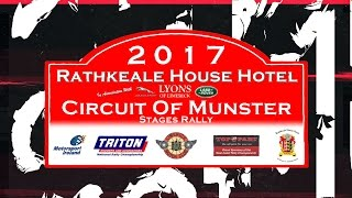 Promotional video for the Rathkeale House Hotel Circuit of Munster Stages Rally 2017. Produced by PadraigForan.ie, footage kindly provided by Flyin Finn Motorsport & Gerard McCarron
