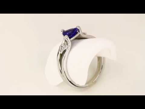 Tanzanite ring .89 Carat Blue Violet Vivid Color