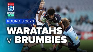 Waratahs v Brumbies Rd.3 2020 Super rugby AU video highlights | Super Rugby AU