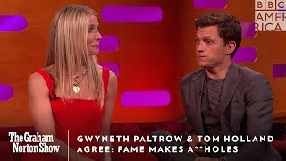 Gwyneth Paltrow & Tom Holland Agree Fame Makes You An A**hole   The Graham Norton Show   BBC America