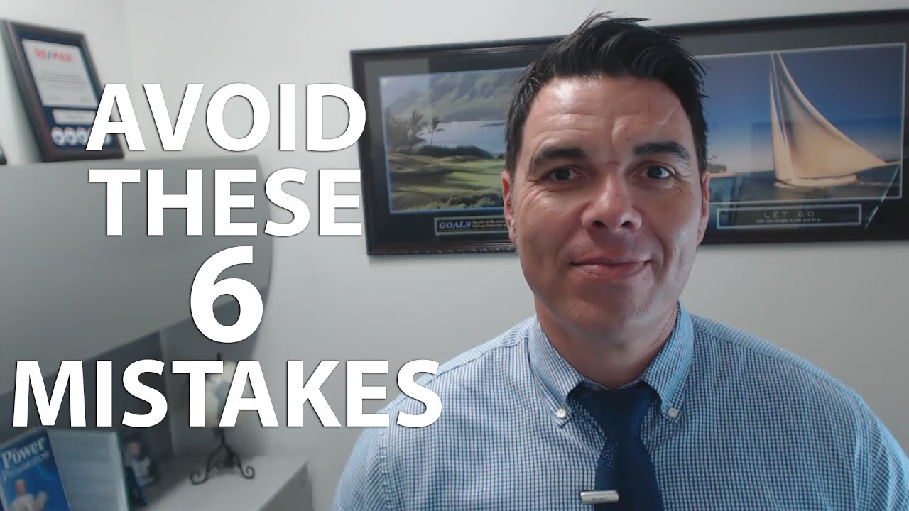 6 Mistakes to Avoid When Selling
