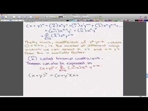 Discrete Math 1 – Tutorial 7 – Binomial Theorem