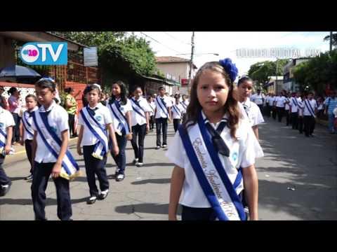 Desfile de primarias en Masaya