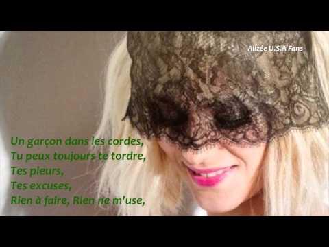 Tekst piosenki Alizée - K.O. po polsku