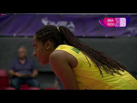 Brasil Vs Republica Dominicana / 2 Set / Sub 20 (2019)