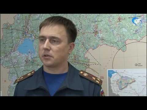 Сотрудники МЧС провели тренировку в Новгородском районе
