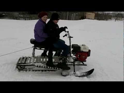 Как сделать снегоход видео из бумаги