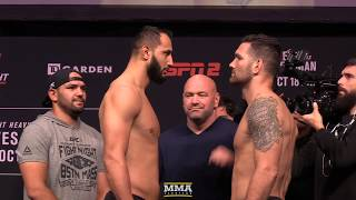 UFC on ESPN 6: Dominick Reyes vs. Chris Weidman Weigh-In Staredown - MMA Fighting by MMA Fighting