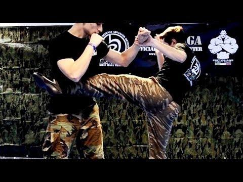 KRAV MAGA TRAINING • Easy round kicks for a Real Fight