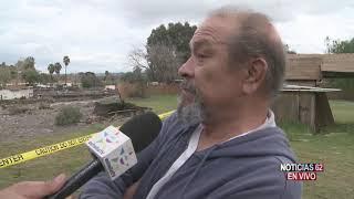 Casa dañada por inundación en Lake Elsinore. – Noticias 62. - Thumbnail