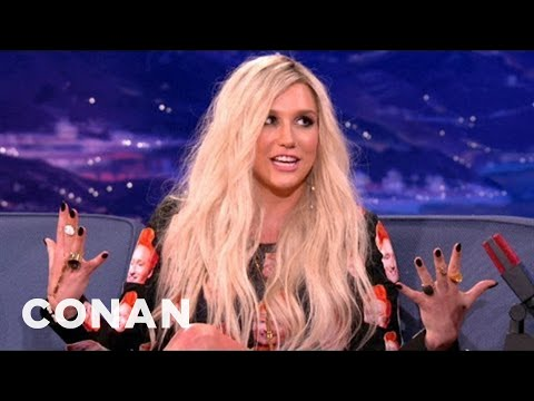 Ke$ha Can't Stop Putting Beards In Her Mouth - CONAN on TBS