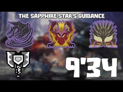 MHW : HR100 - The Sapphire Star's Guidance (導きの青い星 歷戦の個体) [CB solo] - 9'34''51 min.