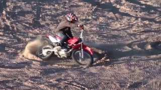 6. Dirtbike Devin's first ride on his 2009 Honda CRF100F