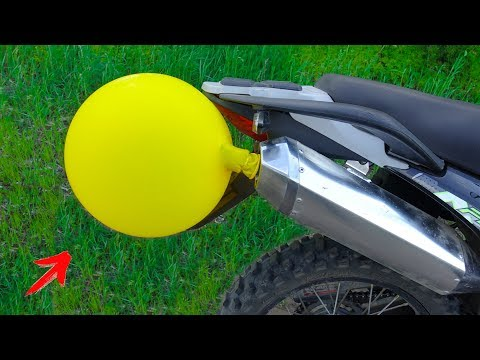 EXPERIMENT: HUGE BALLOON Vs MOTORCYCLE EXHAUST
