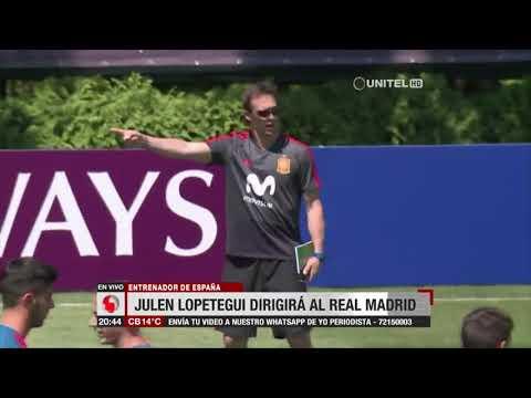 Julen Lopetegui dirigirá al Real Madrid tras el mundial con España