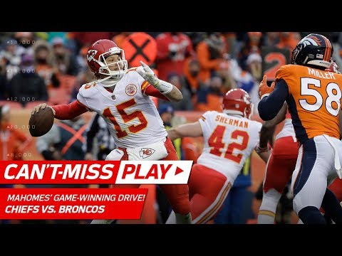 Video: Patrick Mahomes Leads Game-Winning Drive vs. Denver! | Can't-Miss Play | NFL Wk 17