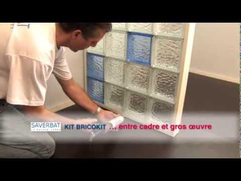 Montage de briques de verre - système BRICOKIT