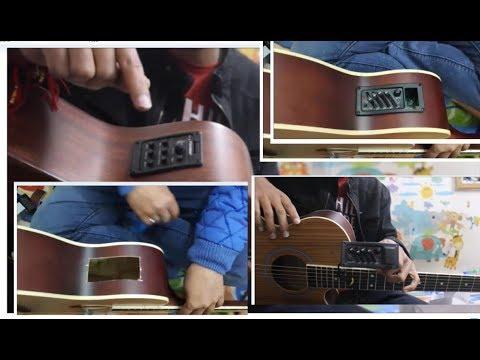 Convert Ur ACOUSTIC Guitar into ELECTRO ACOUSTIC GUITAR  Cheapest Easily – Hindi guitar tricks