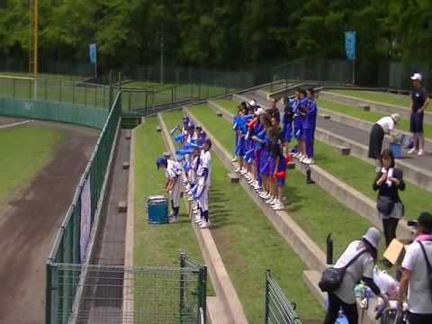 2016札幌市立柏丘中学校 全道大会準決勝 試合前の応援席