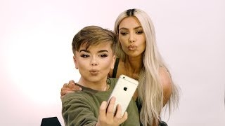 Video Kim Kardashian West Stops by Reuben's Makeup Tutorial MP3, 3GP, MP4, WEBM, AVI, FLV April 2018