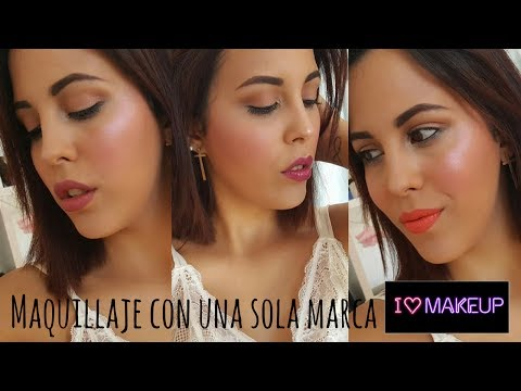 I HEART MAKEUP  Maquillaje con una sola marca con Elena Mel.