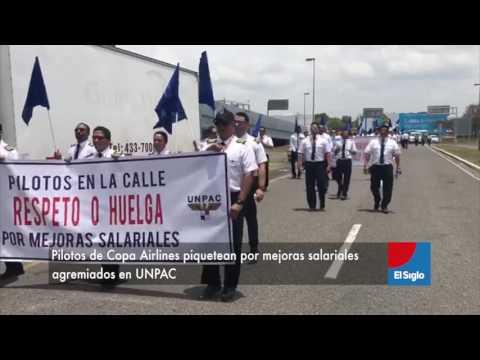 Pilotos de Copa Airlines piquetean por mejoras salariales.