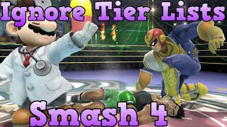 Why You Should Ignore Tier Lists In Smash 4