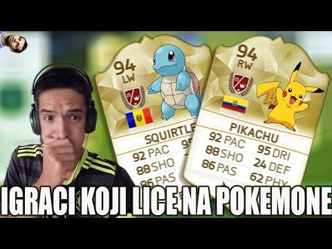 IGRACI KOJI LICE NA POKEMONE   FIFA 16