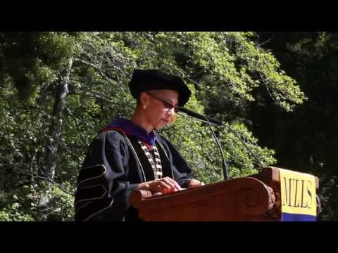 college - Mills College President Alecia A. DeCoudreaux welcomes the Mills community to the College's 125th Commencement.
