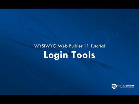 Login Tools WYSIWYG Web Builder 11 Tutorial