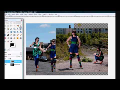 Gimp Tutorial photo editing blending images