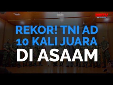 Rekor! TNI AD 10 Kali Juara di ASAAM