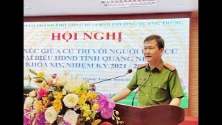 Hội nghị tiếp xúc giữa cử tri với người ứng cử đại biểu HĐND tỉnh Quảng Ninh khóa XIV, nhiệm kỳ 2021-2026