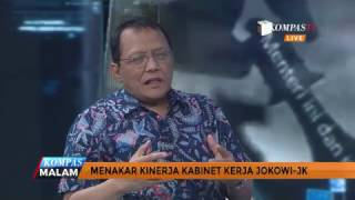 Wacana perombakan kabinet kerja kembali menyeruak setelah Presiden Joko Widodo menyinggung hal ini akhir pekan lalu. Jokowi menyebut faktor kinerja menjadi alasan dasar perombakan. Apa target yang diminta presiden kepada menterinya dan bagaimana kinerja para menteri khususnya yang berasal dari partai politik? Sekretaris Jenderal Kementerian Perdagangan, Karyanto Suprih dan Peneliti Senior CSIS, J Kristiadi akan menguliknya lebih lanjut dalam dialog berikut.
