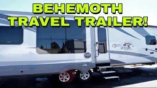 7. Behemoth Fifth Wheel like Travel Trailer! This RV is huge! Open Range 323RLS