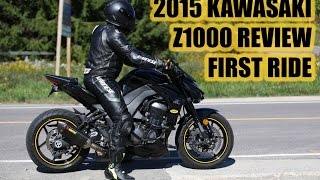 2. 2015 KAWASAKI Z1000 REVIEW | FIRST RIDE | AKROPOVIC EXHAUST | No Chicken Strips