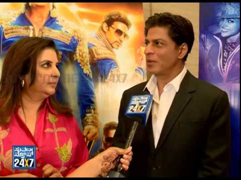 Shahrukh khan & Deepikas Exclusive interview | Happy New year team with Suvarnanews part1