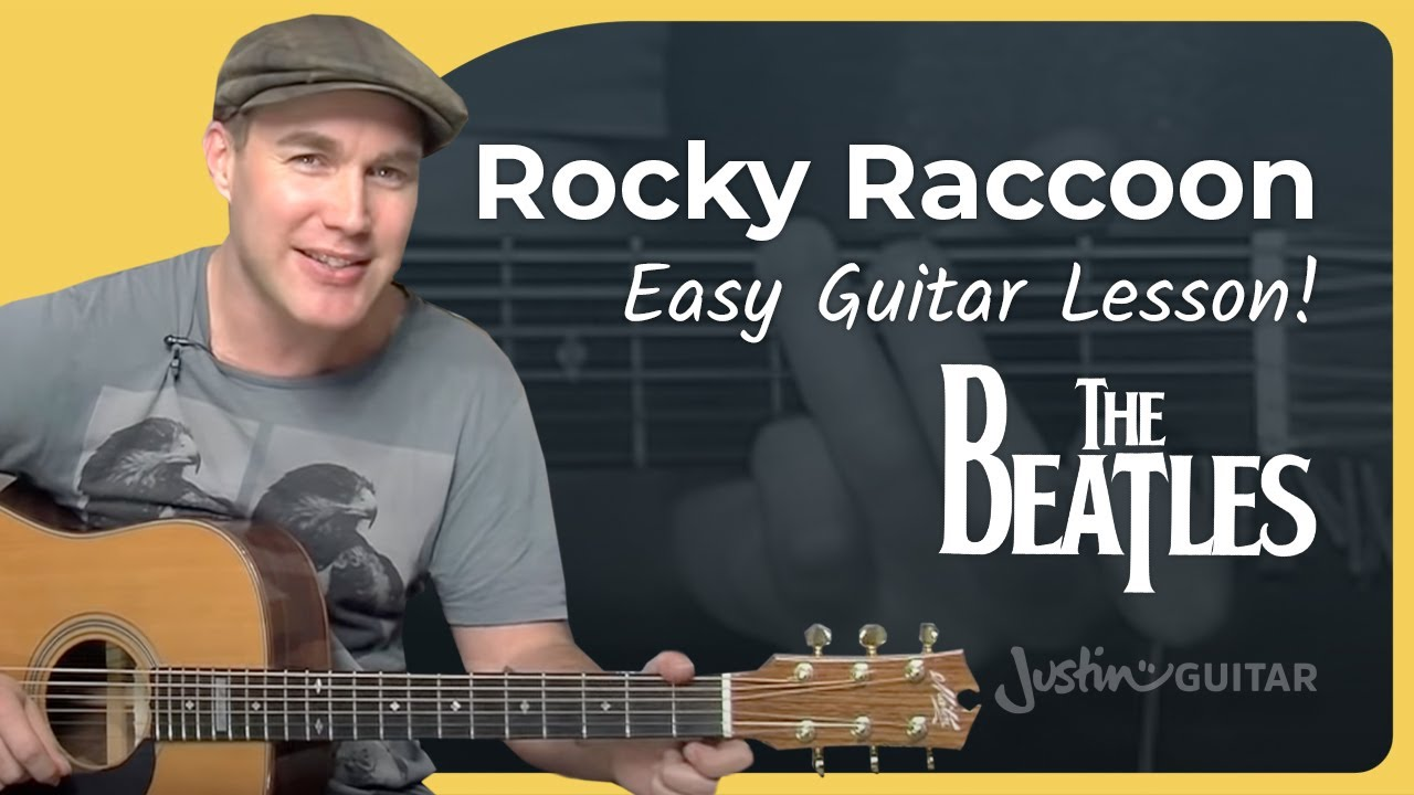 How to play Rocky Racoon by The Beatles (Song Guitar Lesson SB-103)