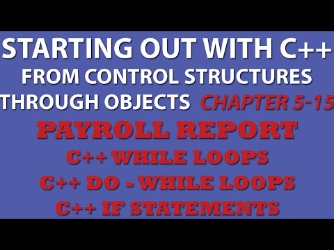 C++ Programming Challenge 5-15: Payroll Report using C++ while loops and C++ if statements