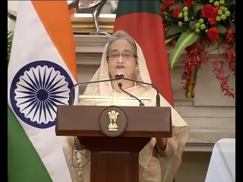 PM Shri Narendra Modi & Bangladesh PM Sheikh Hasina at the Joint Press Statements in New Delhi