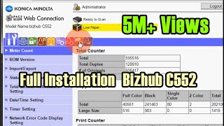 How to Setup Printer and Scanner Konica Minolta Bizhub C552
